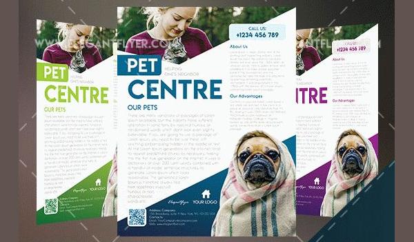 Free Pet Center Flyer Template