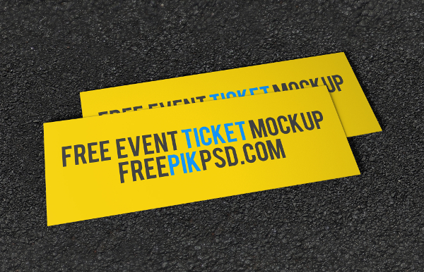 Free Ticket PSD Mockup Download