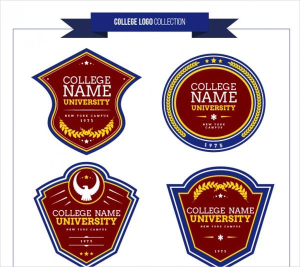 Free Vector College Logos Set Collection