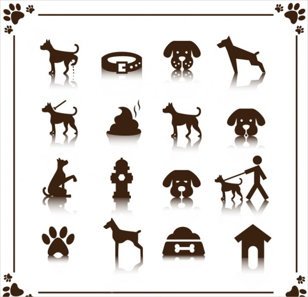 Free Vector Dog Icon Template