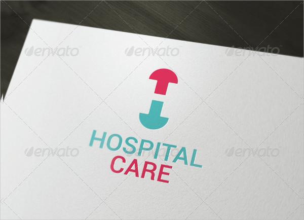 Fully Editable Hospital Care Logo Template