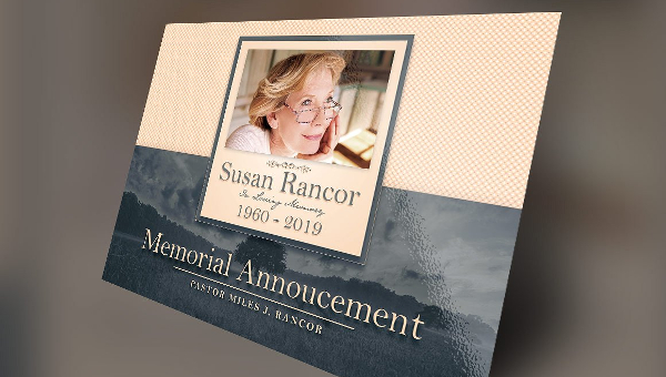 13  funeral announcement cards