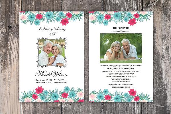 Funeral Memory Card Template
