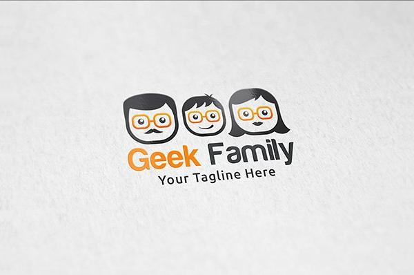 Geek Family Logos Template