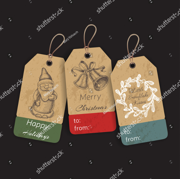 Gift Tags With Hand Drawing Elements