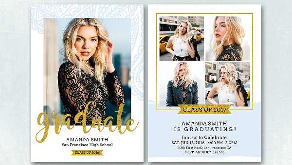 Graduation Announcement Card Designs  Free  Premium Download