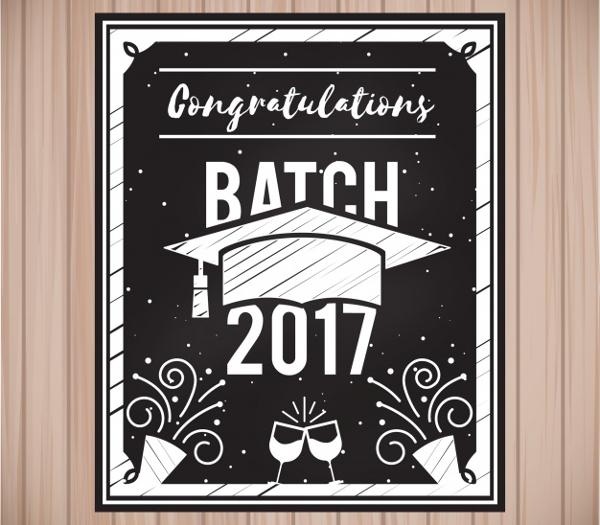 Graduation Party Invitation Free Vector
