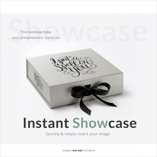 Free Vector Box Mock-Up Template