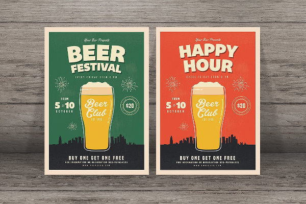 Happy Hour Beer Festival Flyer Template