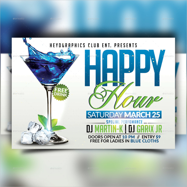 Happy Hour Club Flyer Template