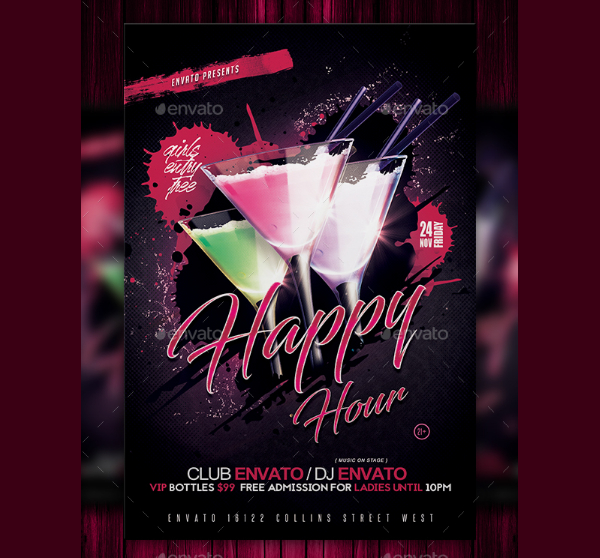 Happy Hour Event Flyer Template