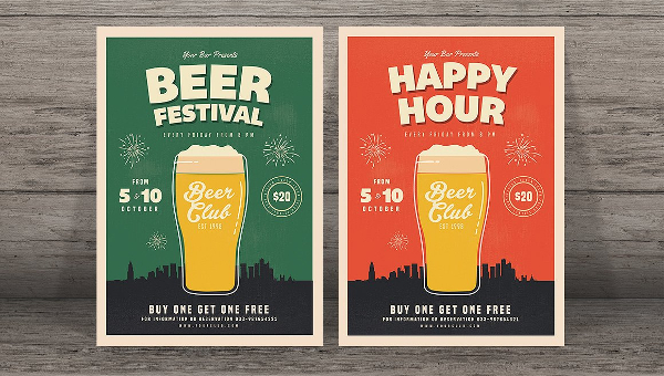24 Happy Hour Flyer Templates Free Premium Download