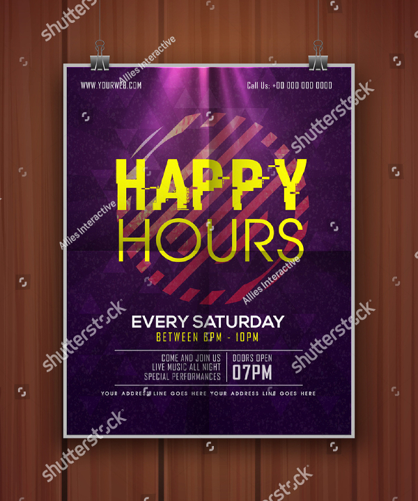 Happy Hours Flyer Template
