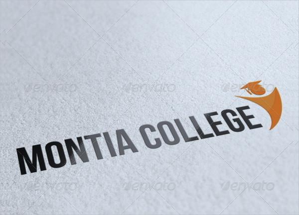 Happy Montia College Logo Template