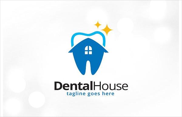 Hospital Dental House Logo Templates