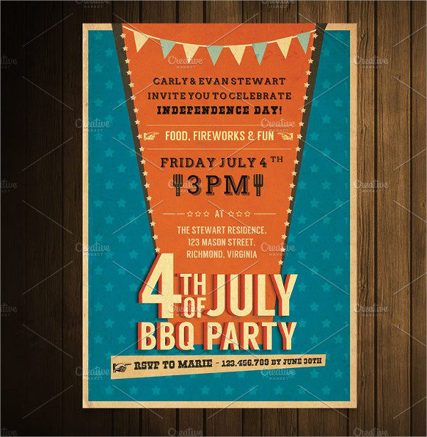 Independence Day BBQ Invitation Template