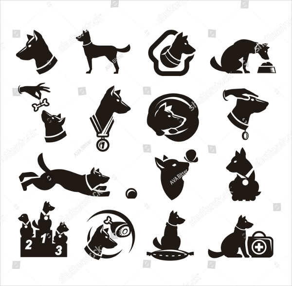 Isolated Dog Icon Design Template