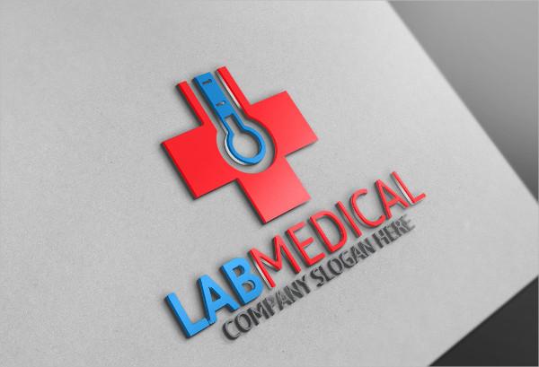 Lab Medical Hospital Logo Template