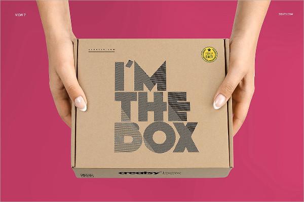 Fully Editable Mailing Box Mockup Set Template