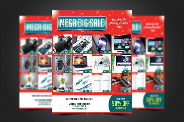 Mega Big Sale Flyers Template