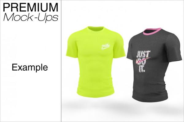 Men's Short Sleeve T-Shirt Mockup Pack