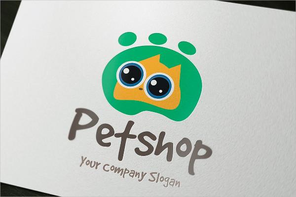 Minimal Pet Store Logo Template