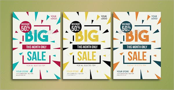Modern Big Store Sale Flyer Template