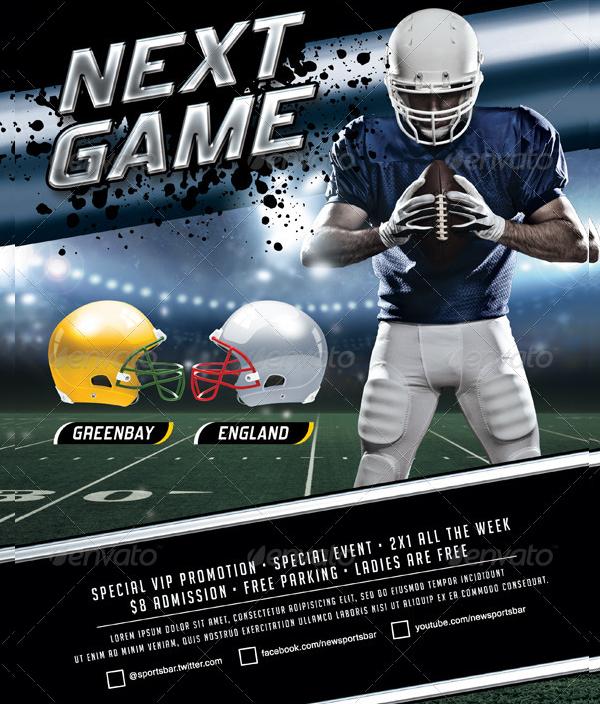 Modern Football Tournament Poster Template
