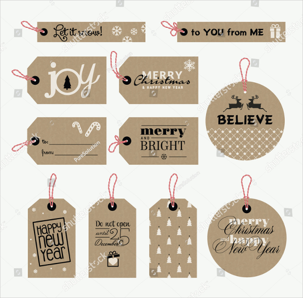 New Year Gift Tags Template