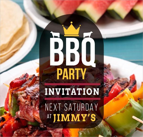 Nice BBQ Invitations Template