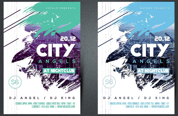 Paint City Angels Party Flyer Template