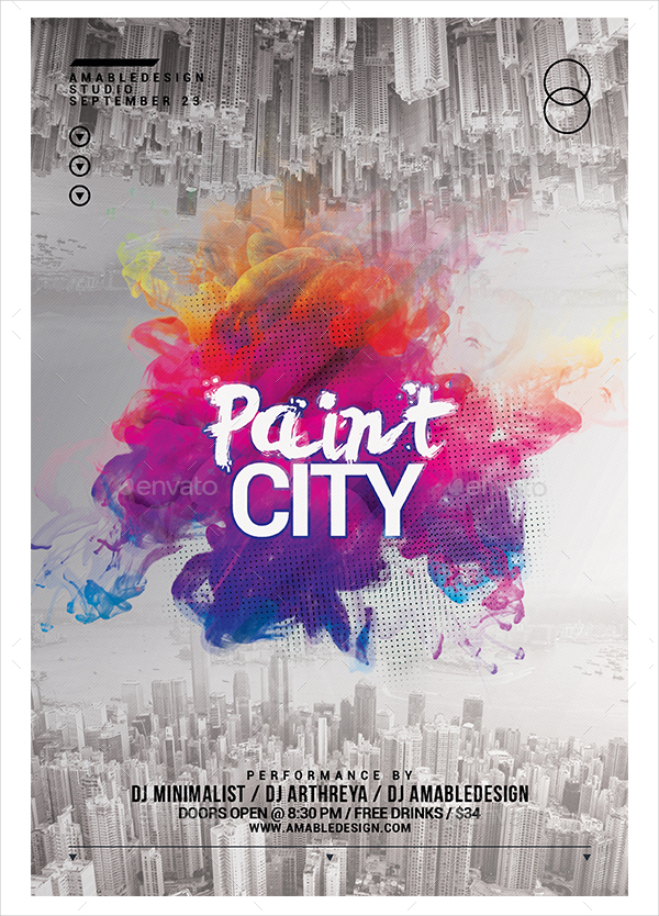 Paint City Flyer Template