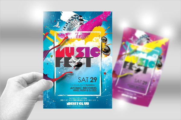 Paint Music Festival Flyer