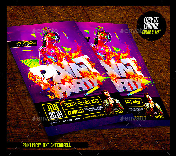 Paint Party Design Flyer Template