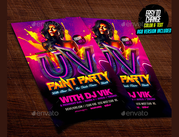 Unique Painting Flyer Template