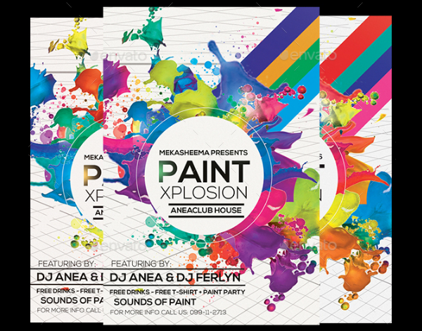 Paint Xplosion Flyer Template