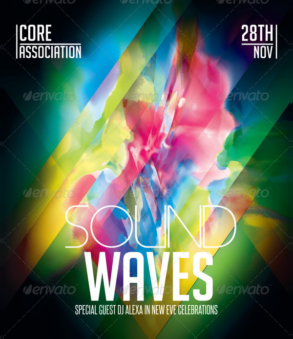 Painting Sound Waves Flyer Template