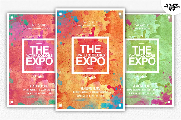 Painting Watercolor Flyer Template