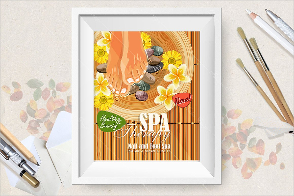 Pedicure Spa Poster Template