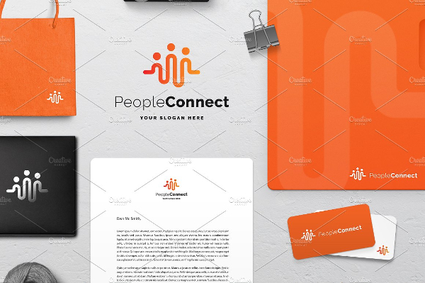 People Connect Logo Template