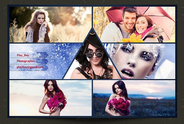 Perfect Collage Photo Frame Template