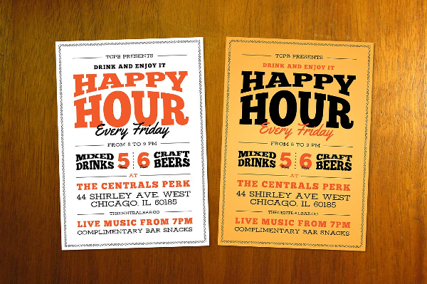 Perfect Happy Hour Flyer Template