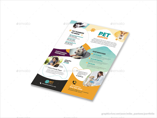 Perfect Pet Care Flyers Template