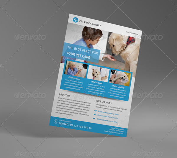 Pet Care Business Flyer Template