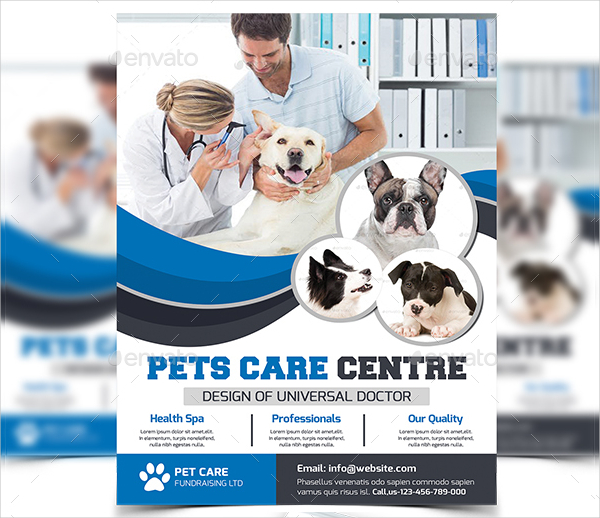Attractive Pet Care Flyer Template