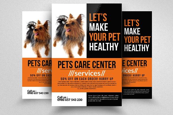 Pet Care Creative Business Flyer Template