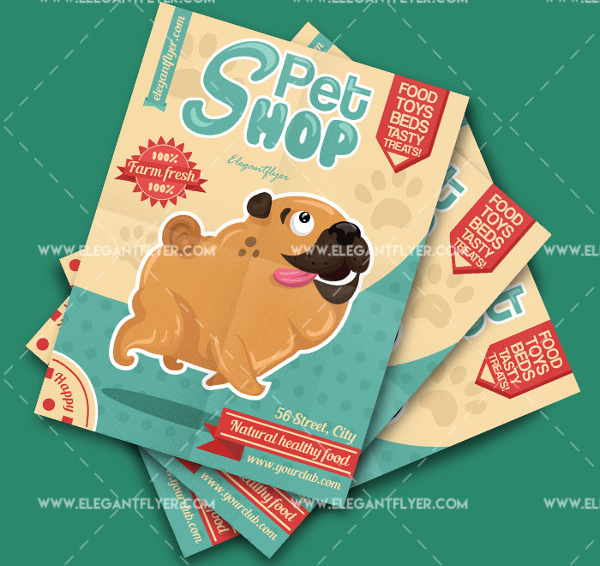 Pet Care Free PSD Flyer Template