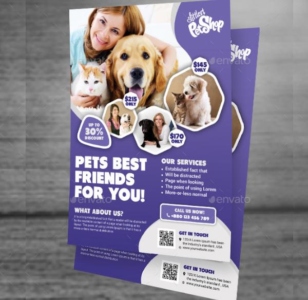 Pet Clinic Flyer Template