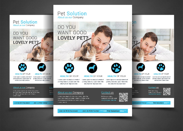 Pet Solution Flyer Template