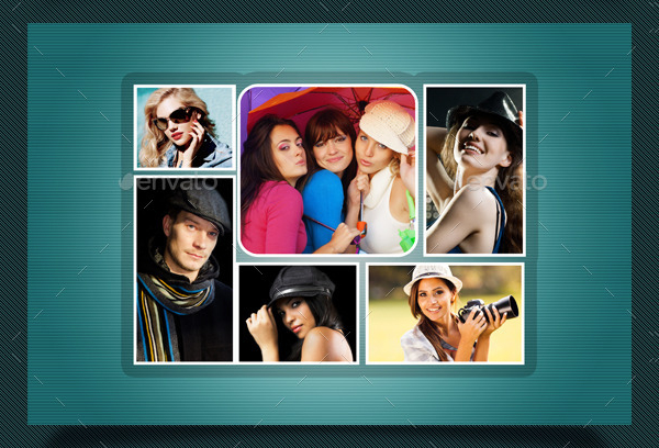 Photo Collage Display Templates